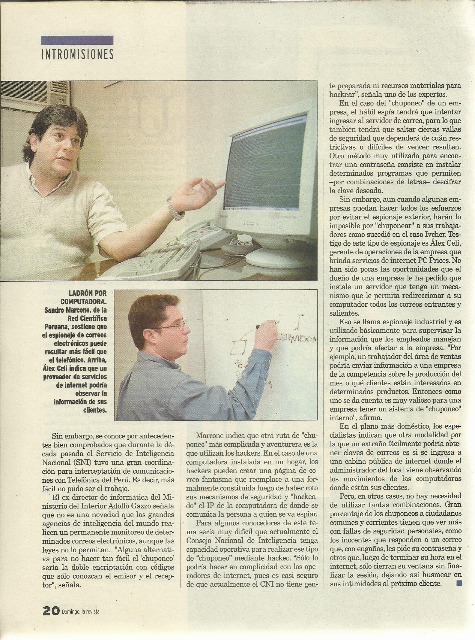 Alex Celi - Entrevista Diario La República 2