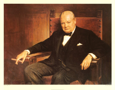 Winston Churchill fumando